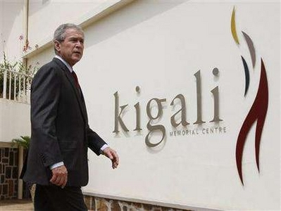 President Bush tours the Kigali Memorial Center in Rwanda, February 19th, 2008